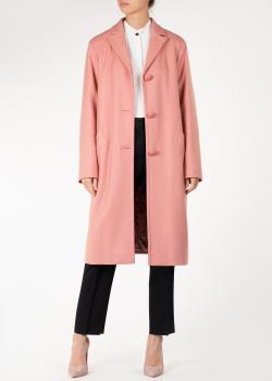 Пудровое пальто Nina Ricci с прорезными карманами, фото