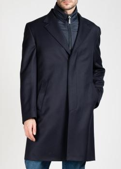 Синее пальто Brioni со стеганой подкладкой, фото