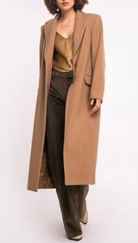 Бежевое пальто Shako прямого кроя, фото