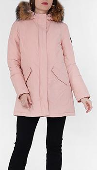 Парка Jott розового цвета с капюшоном, фото