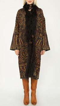 Длинное пальто Etro с абстрактным принтом, фото