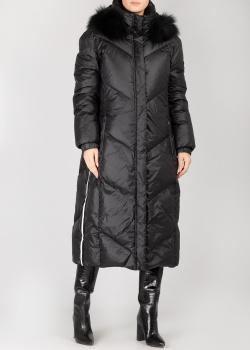 Длинное пальто Hetrego черного цвета с капюшоном, фото