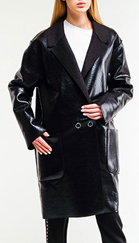 Двустороннее пальто Pinko из экокожи, фото