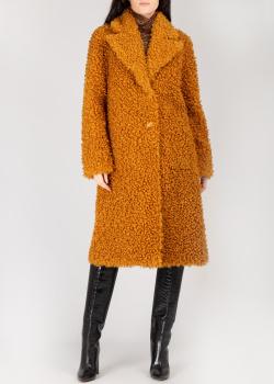 Двухстороннее пальто Pinko коричневого цвета, фото