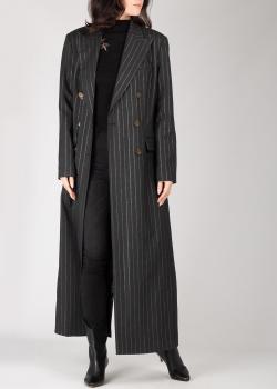 Длинное пальто Pinko серого цвета, фото