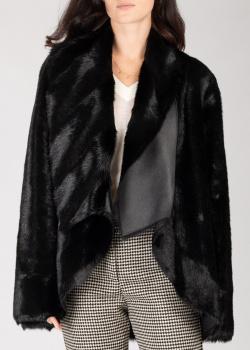 Двухсторонняя куртка Pinko черного цвета из искусственной кожи, фото