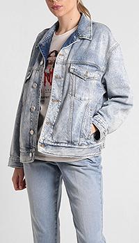 Джинсовая куртка Pinko голубого цвета, фото