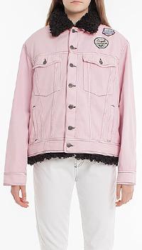 Розовая куртка Pinko с утепленной подкладкой, фото