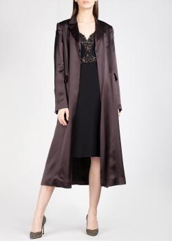 Шелковое пальто Nina Ricci в коричневом цвете, фото