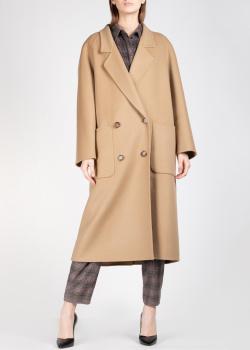 Пальто-оверсайз Michael Kors песочного цвета, фото