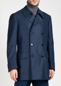 Двубортное пальто Cesare Attolini в клетку, фото