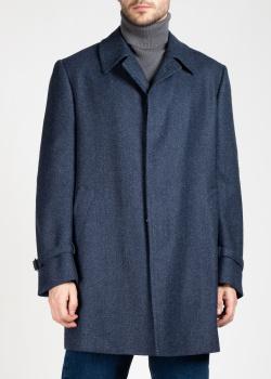 Мужское пальто Cesare Attolini синего цвета, фото