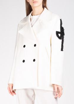 Короткое пальто Patou с вышивкой бисером, фото
