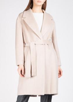 Шерстяное пальто Fabiana Filippi бежевого цвета, фото
