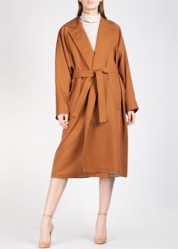 Шерстяное пальто Rochas коричневого цвета, фото