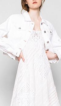Джинсовая куртка Twin-Set My Twin белого цвета, фото