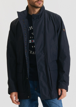 Синяя куртка Paul&Shark с накладными карманами, фото