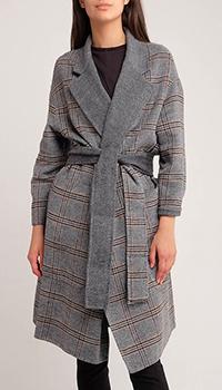 Двухстороннее пальто Twin-Set на поясе, фото
