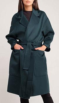 Пальто на запах Twin-Set темно-зеленого цвета, фото