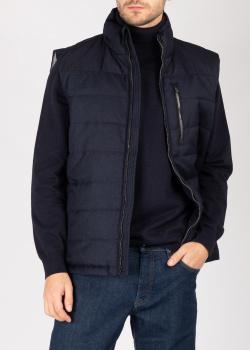 Стеганый жилет Fynch-Hatton синего цвета, фото