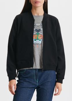Черный бомбер Kenzo с вышивкой на спине, фото