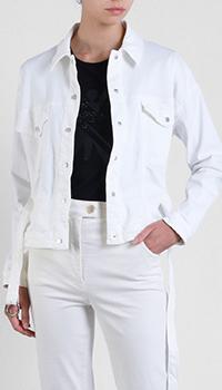 Джинсовая куртка Patrizia Pepe с поясом, фото