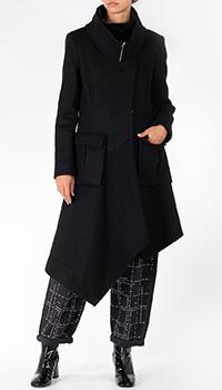 Асимметричное пальто Patrizia Pepe с накладными карманами, фото