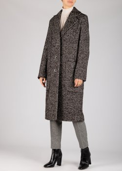 Длинное пальто Luisa Cerano серого цвета, фото