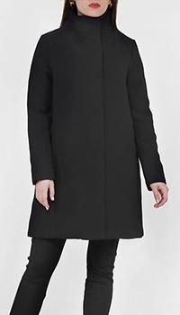Черное пальто Add с высоким воротом, фото