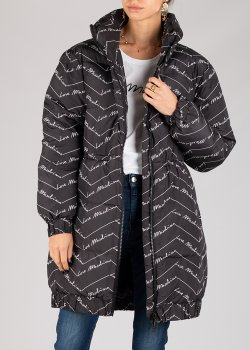 Пуховик Love Moschino черный с принтом, фото