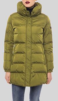Стеганая куртка Trussardi Collection цвета хаки, фото