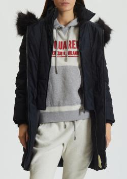 Черная куртка DKNY с капюшоном, фото