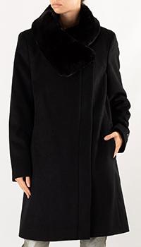 Женское пальто Donna Karan черного цвета, фото