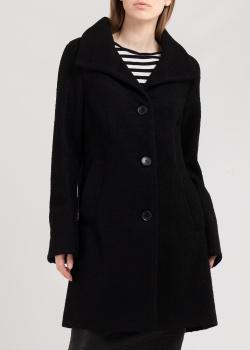 Черное пальто DKNY с отложным воротником, фото