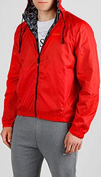 Двухсторонняя ветровка Roberto Cavalli красного цвета, фото