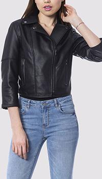 Укороченная косуха Silvian Heach черного цвета, фото