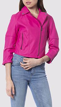 Куртка-косуха из экокожи Silvian Heach цвета фуксия, фото