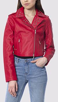 Куртка красного цвета Silvian Heach из экокожи, фото
