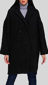 Черное пальто Twin-Set средней длины, фото