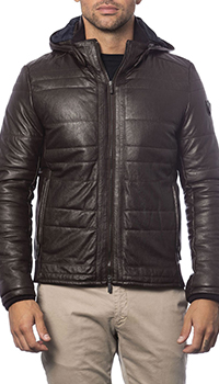 Кожаная куртка Verri коричневого цвета, фото