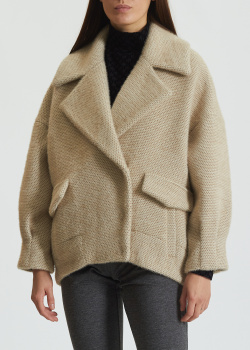 Короткое пальто Diego M бежевого цвета, фото