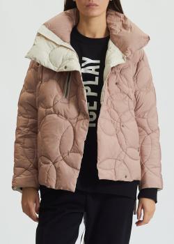 Розовая куртка-пуховик Diego M с высоким воротником, фото