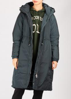 Серое пальто Add с капюшоном, фото