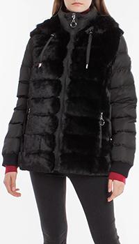 Стеганая куртка Laurel с меховым декором, фото
