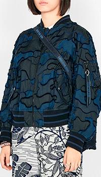 Бомбер Christian Dior Fantaisie темно-синего цвета, фото