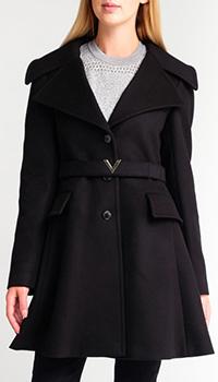 Черное пальто Valentino с кашемиром, фото