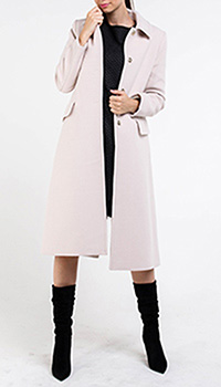 Приталенное пальто Blugirl бежевого цвета, фото