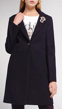 Пальто Liu Jo синее на одну пуговицу, фото