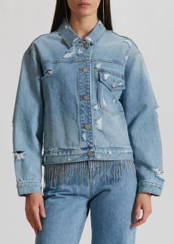 Джинсовая куртка Miss Sixty с цепочками на спине, фото