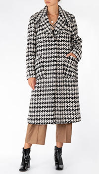 Черно-белое пальто Riani с шахматным узором, фото